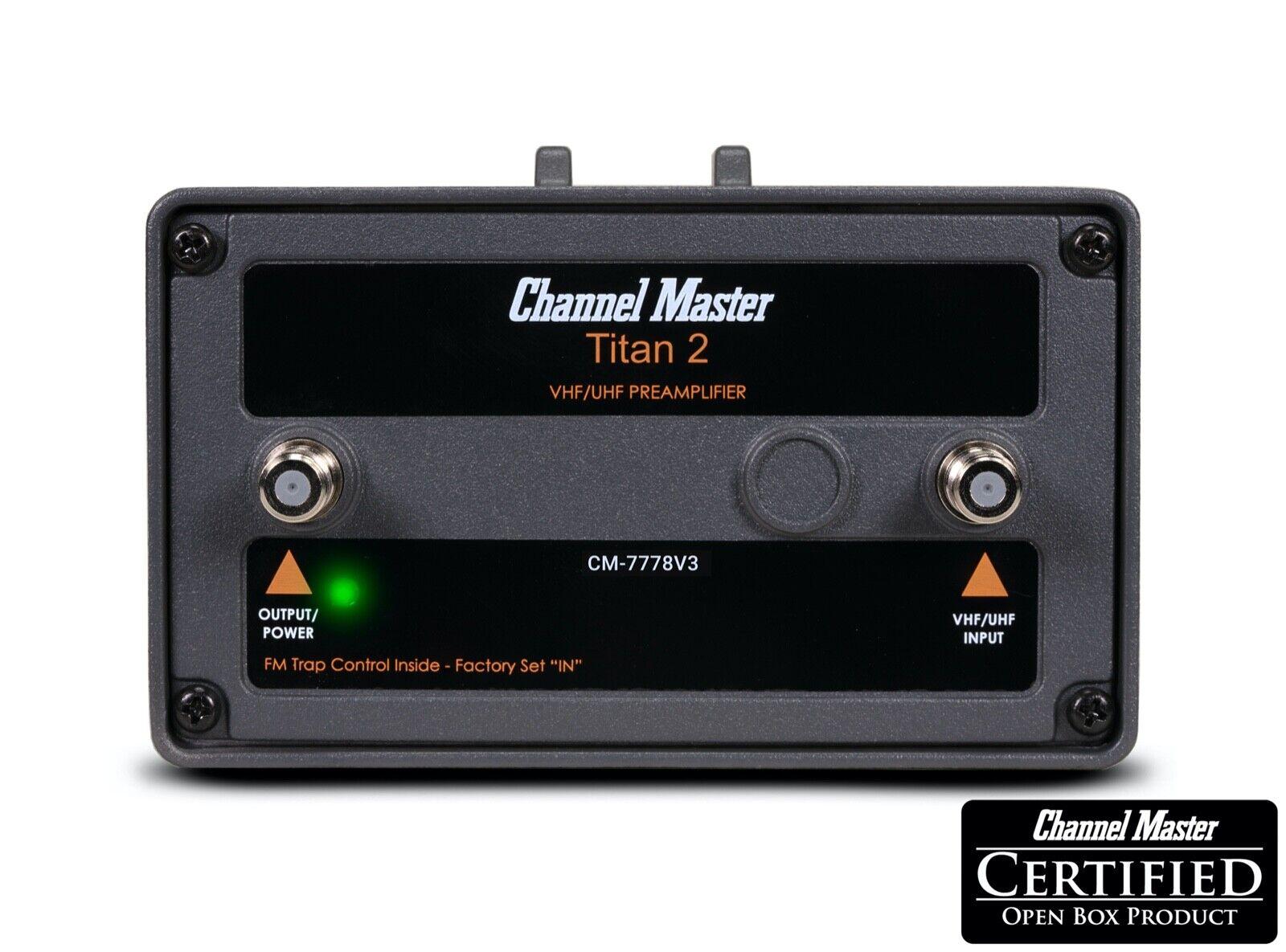 CM-7778V3 channelmasteroutlet Channel Master Titan 2 Medium Gain Preamplifier Antenna Signal Amplifier 7778V3