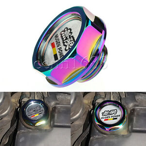 Engine-Oil-Gas-Fuel-Cap-Tank-Cover-Mugen-Aluminum-For-Honda-Acura-Civic-Colorful
