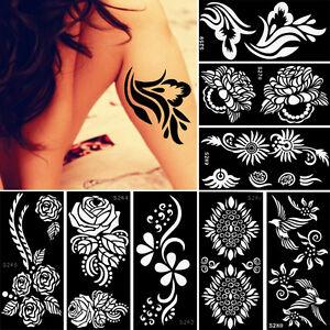 Airbrush Body Art Paint Temporary Henna Tattoo Stencil Christmas ...