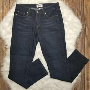 Paige-Womens-Skyline-Straight-Leg-Stretch-Blue-Jeans-Size-29-x-31-Dark-Wash