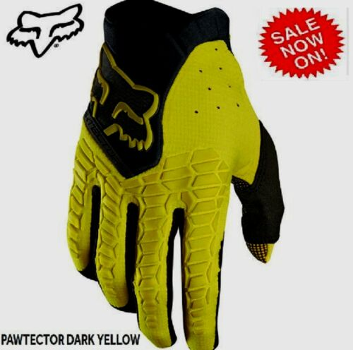 FOX PAWTECTOR Motocross Glove NEW Yellow Mens MX Dirtbike Off Road RRP$59