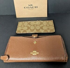 Image is loading COACH-Multifunction-Wallet -Signature-Insert-Coin-Pocket-Card- ad5aeb2a05105