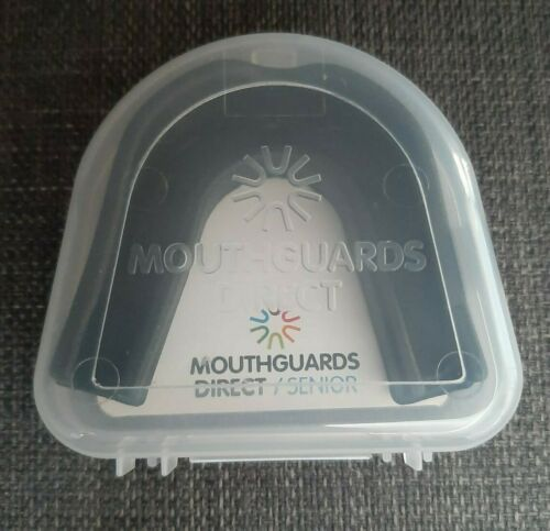 Mouth Guard Gum Shield Black Mouth Gaurd Direct Senior Case Brand New