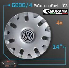 4 Original MURAMA 6006/4 Radkappen für 14 Zoll Felgen VW POLO CONFORT '03 GRAU