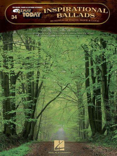 Inspirational Ballads Sheet Music E-Z Play Today Book NEW 000100253