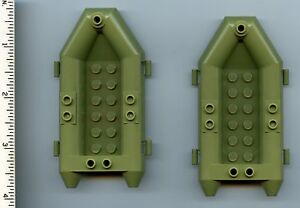 LEGO-x-2-Olive-Green-Boat-Rubber-Raft-Small-NEW-Police-Chima