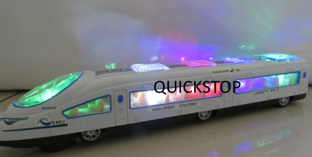 New,Bullet Train & Carriages - Electric Toy  Lights and Sounds -Boys/ Girls