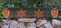 Tribal Tiki Alligator Turtle Towel Hat Coat Hanger Wood Wall Mask Tropical Bar