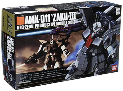 BANDAI 1 144 HG UC UC UC 014 GUNDAM AMX-011 ZAKU III PRODUCTIVE MODILE SUIT KIT c82221