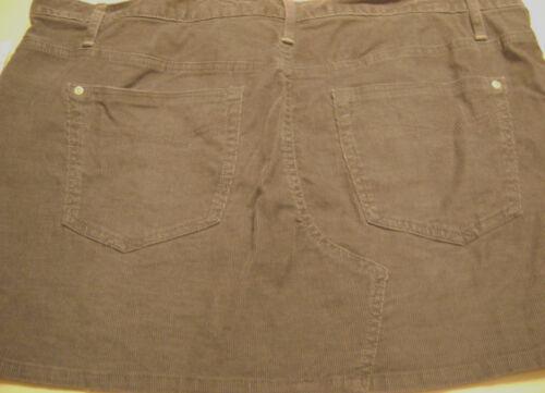 a velluto da taglia donna Gap 33 in grigio scuro Minigonna Nwt coste 16 1969 aZw5Exq