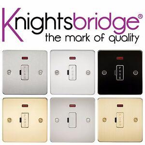 Knightsbridge plaque plane 13A fused éperon fusible cap unité de raccordement avec lumière néon