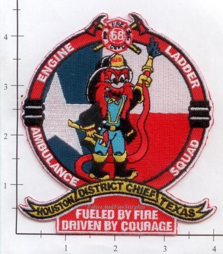 Houston Station 68 TX Fire Dept Patch v1 Yosemite Sam Texas