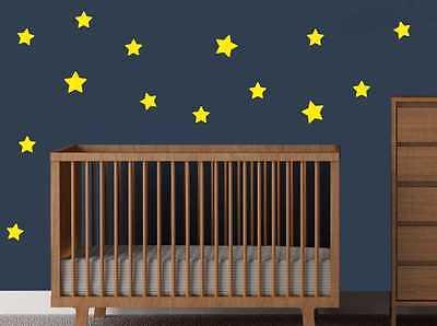 Temperato Le Stelle Vinile Wall Art Adesivi Decalcomanie Bambini Arredamento Camera Trasferimenti Nuovo-mostra Il Titolo Originale