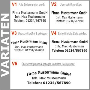 3-Zeilen-Aufkleber-Beschriftung-50-170cm-Werbung-Sticker-Werbebeschriftung-KfZ