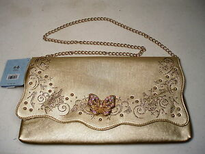 Disney-Cinderella-Live-Action-Film-Butterfly-Purse-Clutch-Handbag-NEW