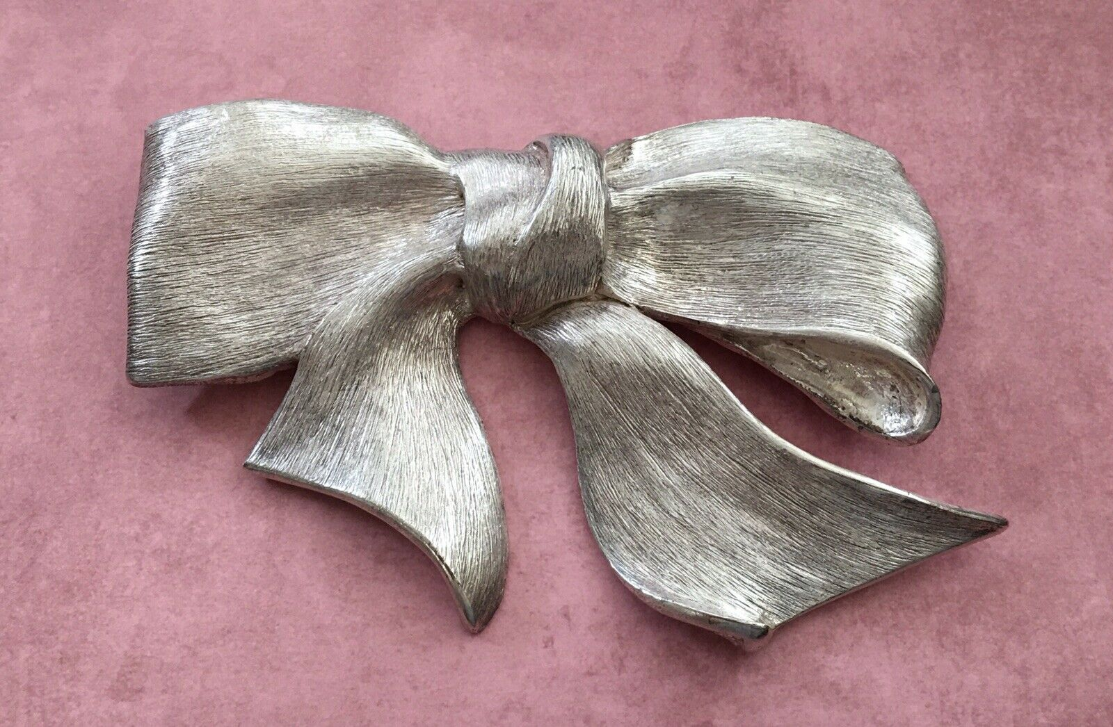VINTAGE 💥 CHRISTOPHER ROSS 💥 AUTHENTIC 1980's LARGE SILVER BOW BELT BUCKLE