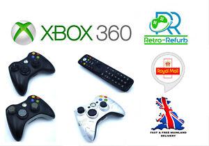 UFFICIALE-Xbox-360-Wireless-Microsoft-Controller-telecomando-multimediale-nero-bianco
