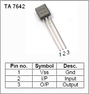 2 pezzi TA7642 Sostituisce mk484 zn414 zn484 AM radio circuit