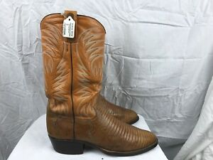 world-wide renown real deal world-wide selection of Details about Ruidaso Mens 10 Narrow Orange Tan Leather Original Western  Cowboy Boots