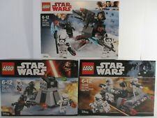 lego star wars 75166 battle pack First Order BNIB x2