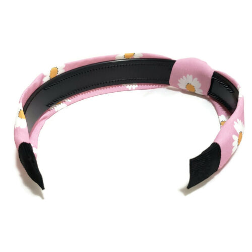 Summer Spring Bloom Floral Flower Print Headband Knotted Hairband Comb Inside