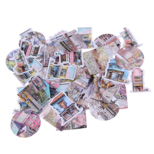 45pcs//lot Travel Landscape Mini Sticker Decor DIY Diary Scrapbook Label Gift J/&C