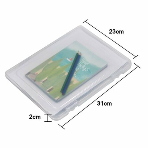 desk paper organizers, 2 Pcs A4 Transparent Plastic Document Cases File Holders