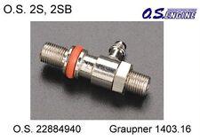 O.S. 22884940 Needle Valve Holder 2S Düsenstock mit Feder Graupner 1403.16