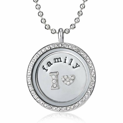 Fashion Floating Locket Holder My Coin Crystal Pendant Fit Necklace Coins Gift