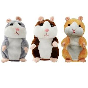 Adorable Mimicry Pet Speak Talking Record Hamster Mouse Plush Kids