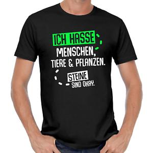 Ich-hasse-Menschen-Tiere-amp-Pflanzen-Steine-sind-okey-Sprueche-Spass-Comedy-T-Shirt