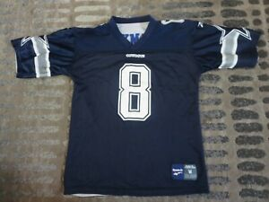 3c815e83 Details about Troy Aikman #8 Dallas Cowboys NFL Reebok Reverse Jersey Youth  M 10-12 children