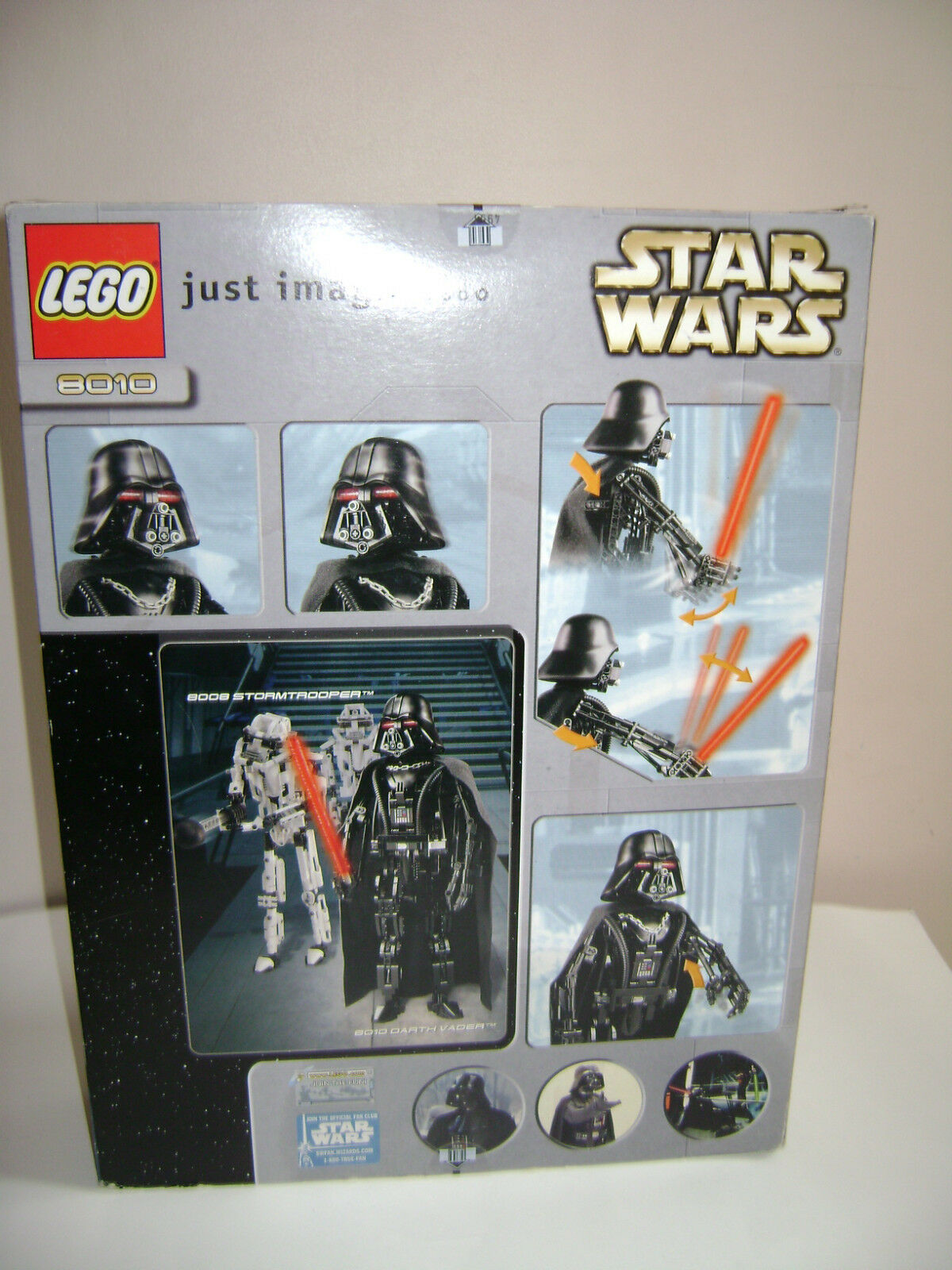 NEW NEW NEW LEGO STAR WARS 8010 RETIRED 2002 COMPLETE RARE DARTH VADER SEALED IN BOX 550e0b