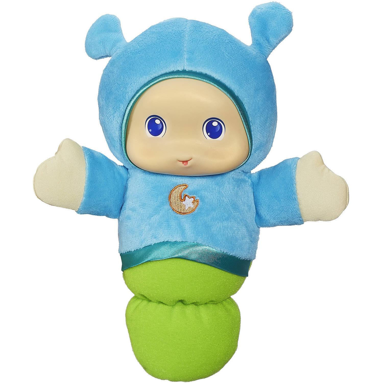 Playskool Play Favourites Lullaby Gloworm Plush Soft Stuffed Doll Toy bluee
