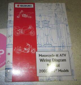 2003 suzuki motorcycle atv wiring diagram manual k3 models 99923 rh ebay com
