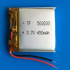 3.7V 450mAh Li Po li-polymer battery for MP3 MP4 GPS Speaker Smart Watch 503030