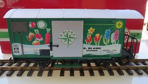 (mbg Go) Lgb Spur G 4128 R. Blanc Wagons Bonne Occasion état Neuf Dans Sa Boîte-afficher Le Titre D'origine
