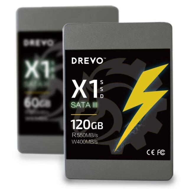 SSD 120GB Drevo X1 2.5 inch Internal Solid State Hard Drive SATA III 550MB/s