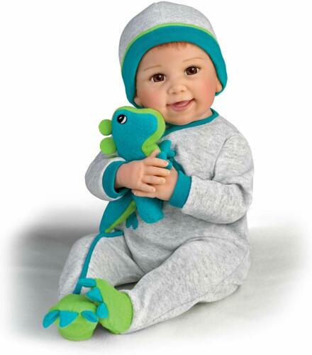 So Truly Real Poseable Baby Doll With Plush Dinosaur by Ashton Drake