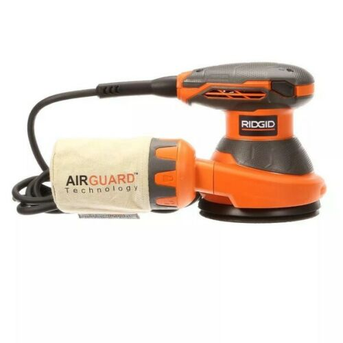 RIDGID 5-inch Corded Random Orbital Sander with AIRGUARD Technology