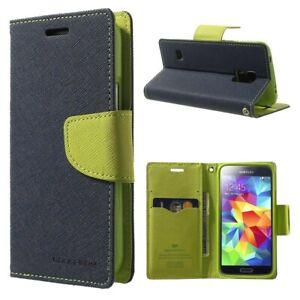 Funda-con-Tapa-Fancy-Samsung-Galaxy-S9-Smartphone-Pu-Libro-Azul-Verde