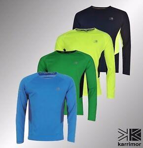 Hombre-Karrimor-Correr-transpirable-de-manga-larga-T-Shirt-Tallas-Desde-S-A-LA-XXL