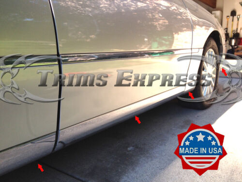 1998-2002 Lincoln Town Car Lower Rocker Panel Body Side Trim Molding Accent-12pc
