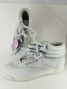 f654864053 Details about RARE Vintage 80s Original Reebok Classic High Top Freestyle  Women's 9 New RARE