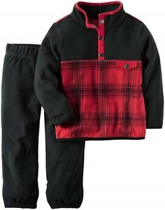 c8fcc4834 Carter s Baby Boy s 2-Piece Fleece Pull-Over Shirt and Pant Set ...