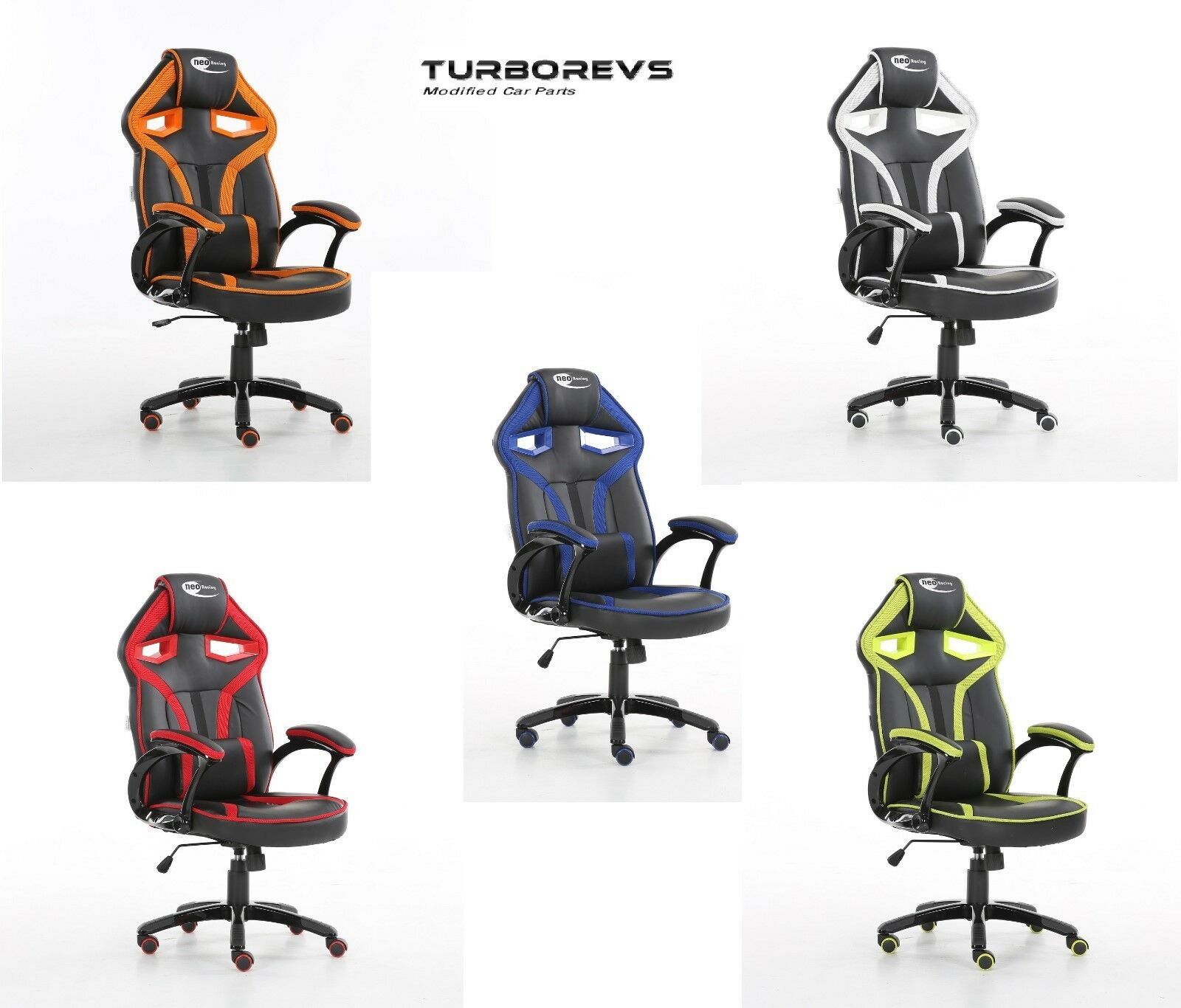 New Neo Morpheus Racing Bucket Gaming Computer Desk Office Chair Faux Leather Ebay