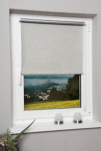thermorollo verdunkelungsrollo seitenzug rollo klemmrollo granit ohne bohren ebay. Black Bedroom Furniture Sets. Home Design Ideas