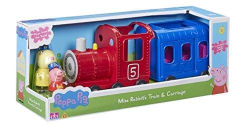 New Peppa Pig Miss Rabbits Train & Carriage Playset