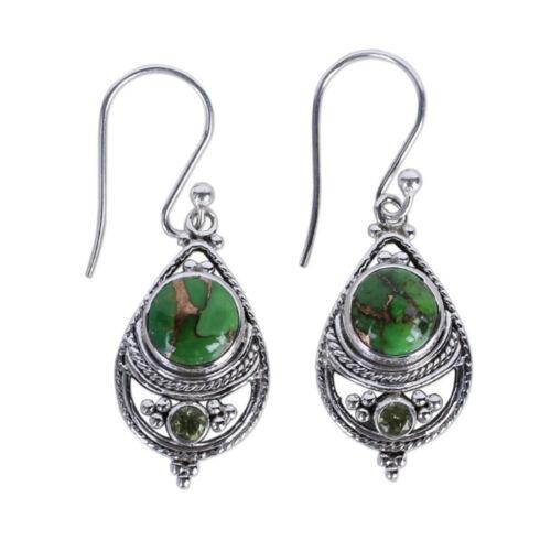Fashion Natural Crystal Moonstone Olivine Drop Dangle Hook Earrings Jewelry
