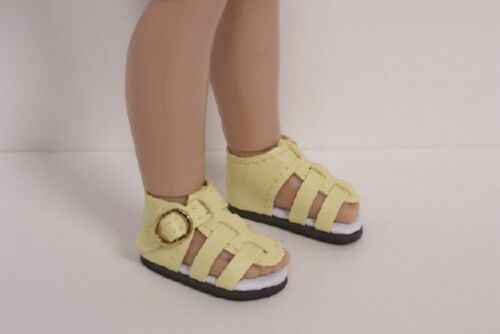 """Debs LT YELLOW Strappy Sandals Doll Shoes For 12/"""" Helen Kish Bethany Light"""